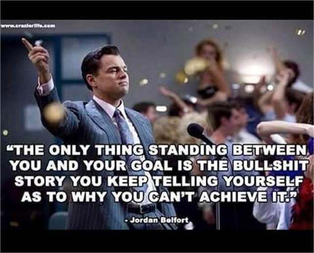 רק אתה יכול לעצור את עצמך להגשים את מטרותיך