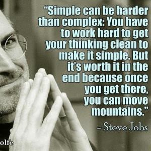 לעשות את הדברים פשוט, זה הרבה יותר מסובך ממה שחושבים